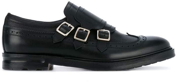 Alexander McQueen three strap monk shoes