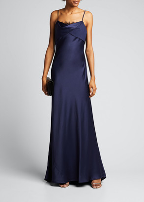 Jason Wu Collection Lace-Trimmed Satin Slip Gown