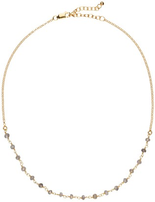 Amadeus Luna Short Gold Chain Necklace With Labradorite Gemstones