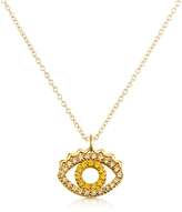 Kenzo Golden Sterling Silver Mini Eye Necklace