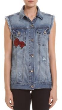Colcci Embroidered Jeans Vest
