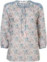 Oui Longsleeve printed tassle blouse