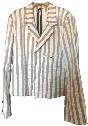 Ann Demeulemeester White Cotton Jackets