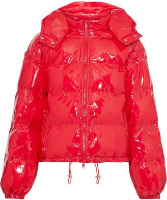 Walter Baker Keri Quilted Glossed-shell Hooded Coat