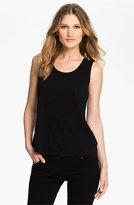 Eileen Fisher Petite Women's Scoop Neck Silk Tank