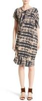 Zero Maria Cornejo Women's Painters Stripe Crepe De Chine Dress