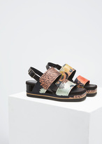Dries Van Noten black double strap platform sandal