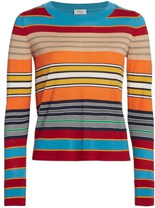 Akris Punto Horizontal Stripe Knit Sweater