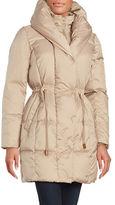 Cole Haan Puffed Shawl-Collar Down Puffer Coat