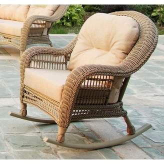 One Allium Way Simpson Outdoor Garden Rocking Chair with Cushions One Allium Way