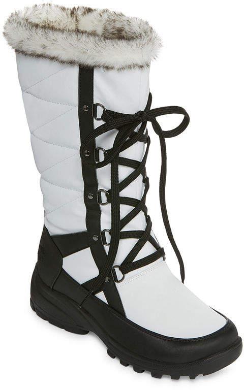 e7a9964e0b81d Lace Up And Fur Winter Boots - ShopStyle