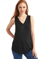 Gap Shirred V-neck tank