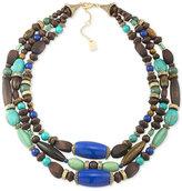 Lauren Ralph Lauren Gold-Tone Multi-Layer Beaded Statement Necklace