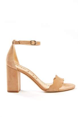 Sam Edelman Odila Ankle Strap Scalloped Heel Taupe 10