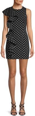 Cinq à Sept Dot-Print Sheath Dress