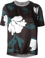 Marni twill floral print shirt