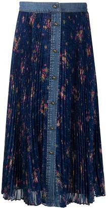 Philosophy di Lorenzo Serafini Floral-Print Pleated Skirt