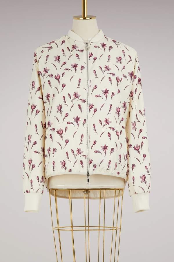 Moncler Mackay flower print bomber jacket