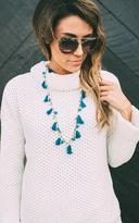 Ily Couture Charm Tassel Necklace
