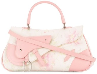 Christian Dior Pre-Owned flower motif two-way tote