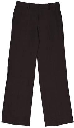 Chloé \N Brown Linen Trousers