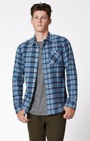 Volcom Gaine Plaid Flannel Long Sleeve Button Up Shirt