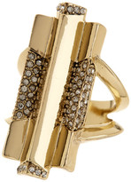 House Of Harlow Pave Crystal Defined Art Deco Ring - Size 8