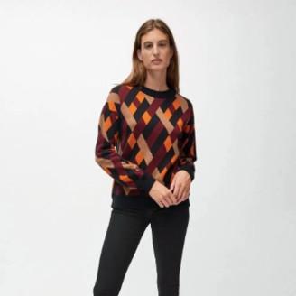 Armedangels Organic Cotton Peetjaa Rhombs Knit Sweater - medium | organic cotton
