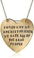 Alisa Michelle Back To Basics Gold-Plated I Know Why We Are Best Friends Chain Necklace, 18""