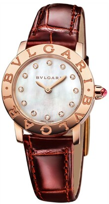 Bvlgari Rose Gold, Mother-of-Pearl and Diamond Watch 26mm