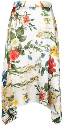 Madison.Maison Laura floral-print silk skirt