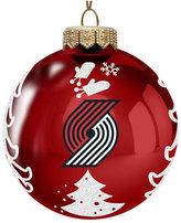 Memory Company Portland Trail Blazers Glass Christmas Tree Ornament