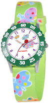 JCPenney RED BALLOON Red Balloon Kids Time Teacher Butterfly Print Fabric Strap Watch