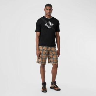 Burberry Check Merino Wool Drawcord Shorts