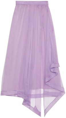 Gucci Silk organdy skirt with slit