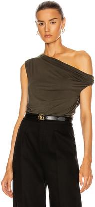Enza Costa Silk Jersey Off Shoulder Top in Uniform Green | FWRD