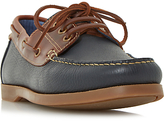 Dune Boater Leather Classic Boat Shoes, Navy