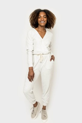 Gibson Lounge-All-Day Surplice Jumpsuit