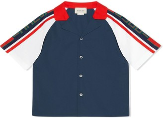 Gucci Kids Children's poplin shirt with Gucci stripe