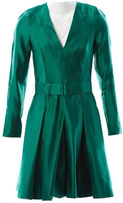 Jonathan Saunders Green Silk Dresses