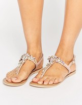 Faith Jiles Embellished Flat Sandals