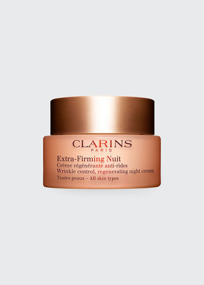 Clarins Extra-Firming Wrinkle Control Regenerating Night Cream - All Skin Types, 1.6 oz./ 50 mL