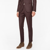 Paul Smith Men's Slim-Fit Brown Wool-Cashmere Trousers