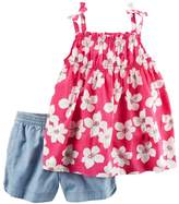 Carter's Girls 4-8 Floral Top & Chambray Shorts Set