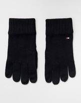 Tommy Hilfiger Pima Cotton Gloves In Black