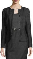 Max Mara Svelto Collarless Zip-Front Jacket, Black