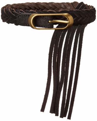 Frye and Co. Women's Braided Tassel Belt
