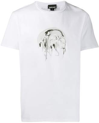 Just Cavalli art print T-shirt