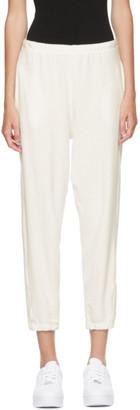 Gil Rodriguez SSENSE Exclusive White Terry Beachwood Lounge Pants