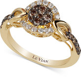 LeVian Le Vian Chocolatier Framed Clusters Diamond Ring (5/8 ct. t.w.) in 14k Gold